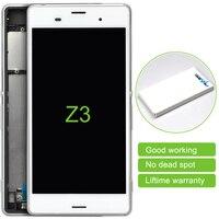 10 יחידות תצוגת Lcd מסך מגע Digitizer עצרת עם מסגרת עבור Sony Z3 L55t D6653 D6633 משלוח חינם (כרטיס בודד) 5.2 inch