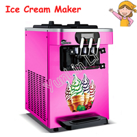 110V/220V Desktop Soft Ice Cream Machine 1600W Sweet Cone Ice Cream Maker 18L/h Ice Cream Machine HS 18X