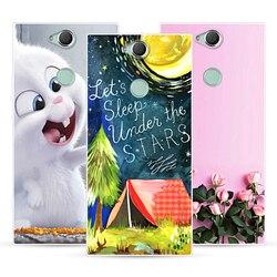 На Алиэкспресс купить стекло для смартфона cartoon dog and cat case for sony xperia xa2 plus,mobile phone shell, tpu material painted painting case.25 colors!