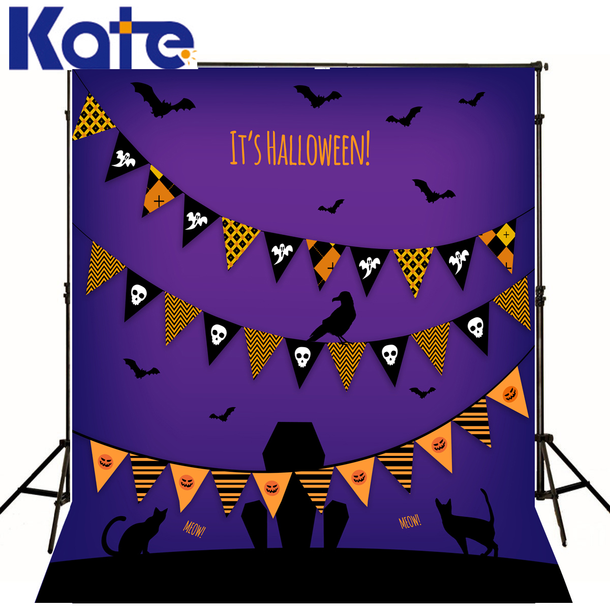 Photography Backdrops Purple Sky Bat  Photography Backdrops Halloween Skull Cat Ghost Photography Studio Backgrounds deep purple deep purple stormbringer 35th anniversary edition cd dvd