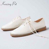 Krazingポット2018クラシックス牛革の靴女
