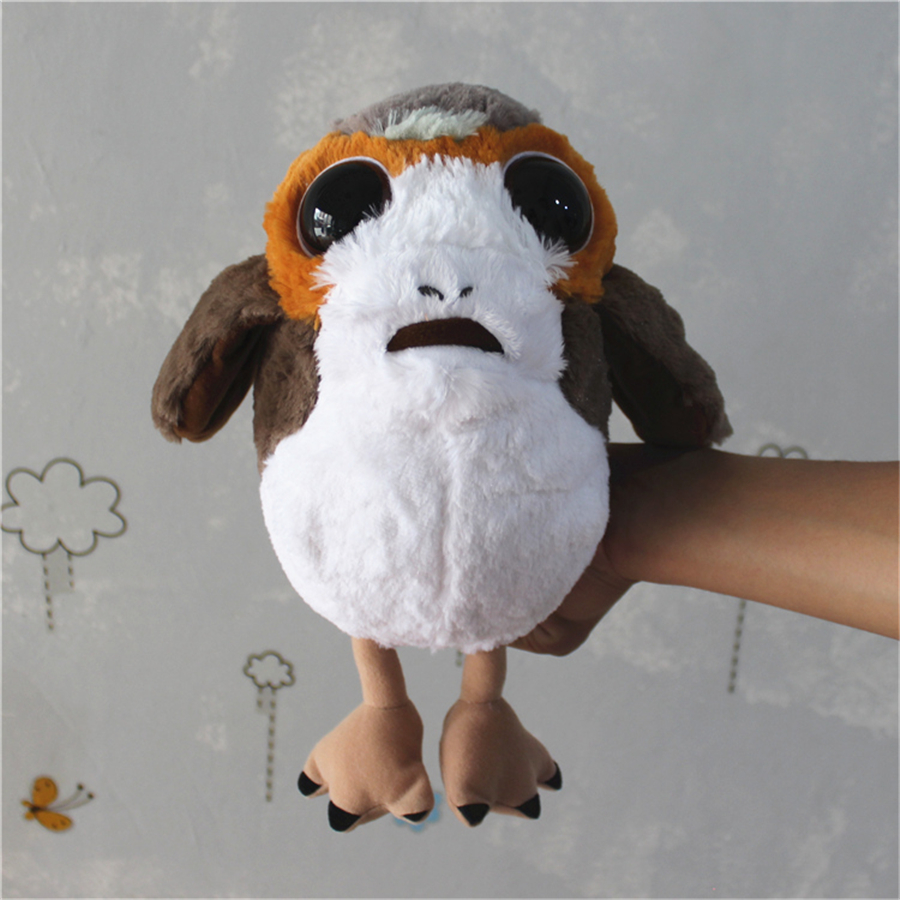 1 piece star wars 8 new Porg bird Plush Toys Doll For kids Gifts&birthday star wars fans collection toys thinkeasy 8 pcs set puzzle transformation star wars space cars prime bruticus action figures block toys for kids birthday gifts