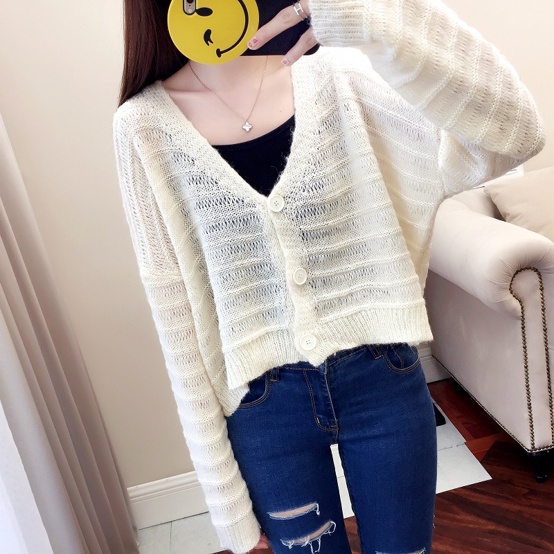 Sweaters 2018 Original Design Lace Patchwork Crochet Sweater Women Cardigan Female O-neck Knitted Coat Slim Rntro Sweater Y03564
