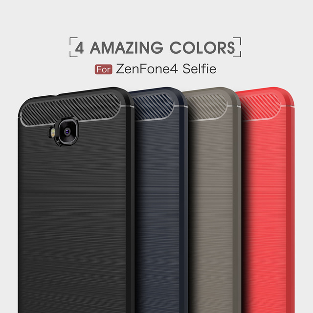 finest selection e5278 7f7db US $4.26 11% OFF|Cases for Asus zenfone 4 Selfie ZB553KL ZD553KL ZB 553KL  Silicon phone back Cover for Zenfone 4Selfie Pure color phone housing-in ...