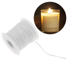 61m Environmental Spool of Cotton Braid Candle Wick Core For DIY Oil Lamps Candle Making Supplies Birthday Candles(China)