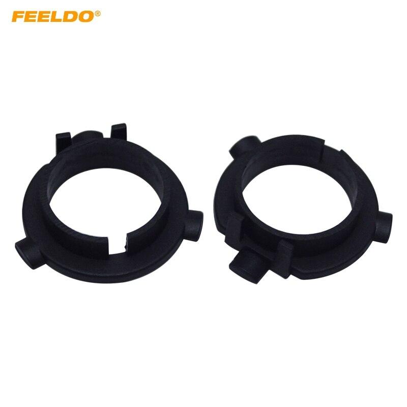 FEELDO 2PCS Car LED Headlight Bulbs Holder H7 Socket Adapter Base For KIA K3/K4/K5/Sorento Hyundai Veloster/Snata Fe #5533