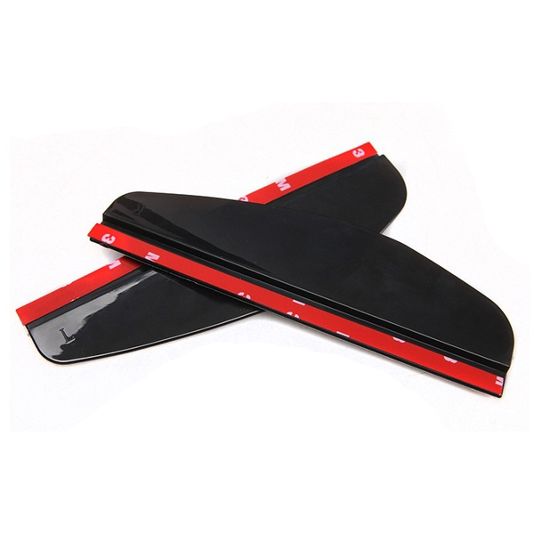 AUTO Universal Flexible PVC Car Rear-view Mirror Rain Shade Rainproof Blades Car Back Mirror Eyebrow Rain Cover, Black