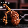 Yanting wood keychains PIXIU trinket charm pendant key chains trinkets Christmas gifts for men car keychain lucky accessories 26