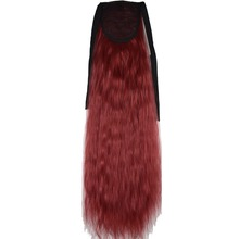 TOPREETY Heat Resistant B5 Synthetic Hair Fiber 22″ 55cm Kinky Straight Clip in Ribbon Ponytail Hair Extensions