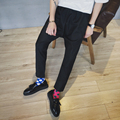2016 Autumn Korean style hairstylist wild Yuppie harem pants men casual black harem Pants men harem trouser,M-XXL