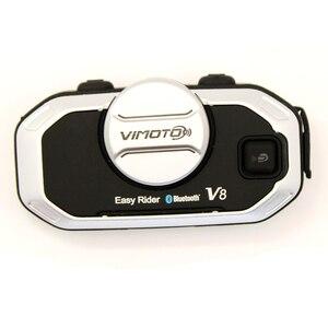 Image 4 - Phiên Bản Tiếng Anh Dễ Dàng Rider Vimoto V8 Mũ Bảo Hiểm Tai Nghe Bluetooth Xe Máy Stereo Tai Nghe Dành Cho Điện Thoại Di Động Và Định Vị Vô Tuyến