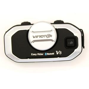 Image 4 - Vimoto oreillette Bluetooth pour moto, oreillette stéréo pour téléphone portable et GPS, Version anglaise Easy Rider V8