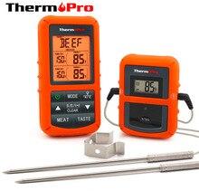 Theropro TP 20S عن بعد اللاسلكية الرقمية BBQ ، فرن ، مقياس حرارة اللحوم المنزل استخدام مسبار من الفولاذ المقاوم للصدأ شاشة كبيرة مع الموقت