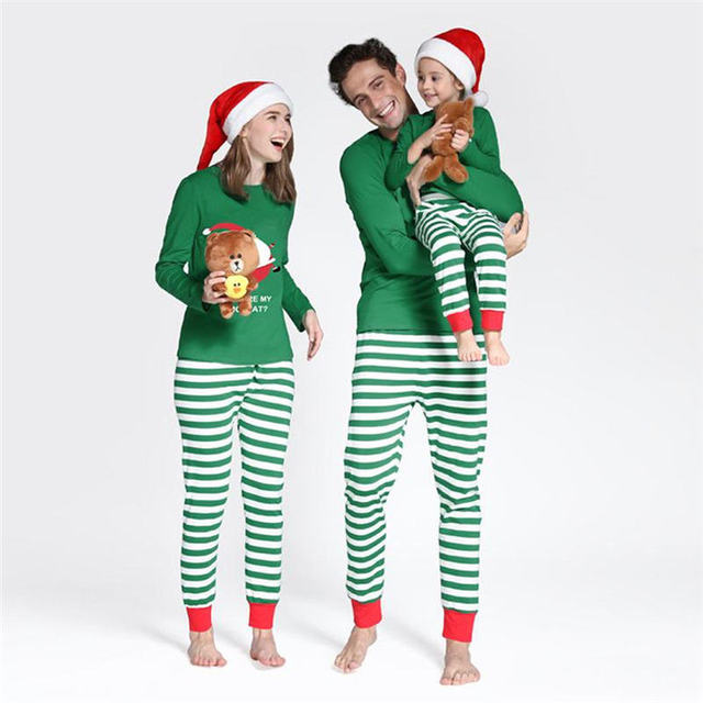 e0f8a10b3 Aliexpress.com   Buy Family Matching Christmas Pjs Outfits Kids ...