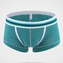Good Quality Mens Sexy Bright Color Cotton U Convex Boxers Comfortable Underwear Casual  Underpants For Male 5 Colors
