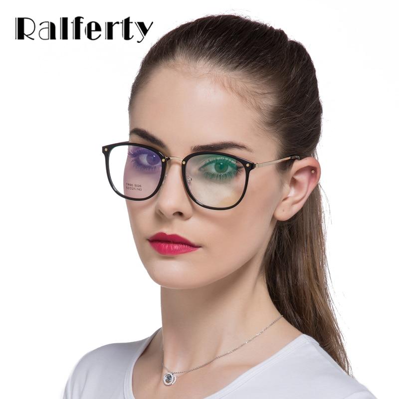 760544428 Ralferty Oversize Óculos de Armação Mulheres TR90 Transparente Grande De Óculos  Óculos de Metal Do Vintage Óculos Preto Óculos Oculos 026