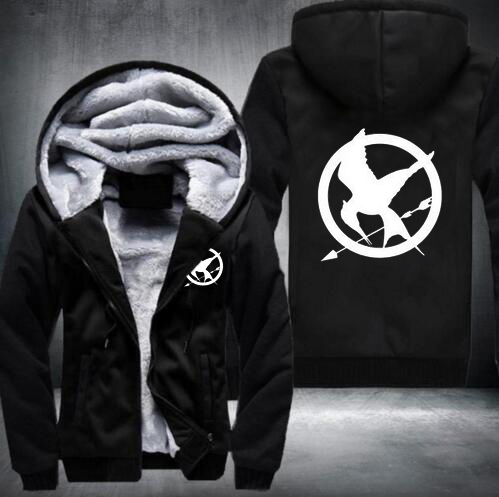 The Hunger Games Fleece Winter Hoodies Men Man Sweatshirt Fire Phoenix Exercise Movie Sweatshirt Clothing Streetwear Plus Size