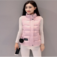 LISYRHJH 8 Color Women Winter Vests 2017 New Lightweight Slim Short Vest Cotton Padded Jacket Sleeveless