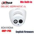 Dahua IPC-HDW4431C-A replce IPC-HDW4421C-A IPC-HDW4300C 4MP Сеть ИК HD Камера Mic Встроенный POE видеонаблюдения H265 H264 купол HDW4431C-A