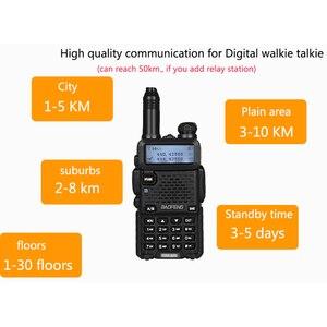 Image 5 - 2 PCS Baofeng DM 5R Digital Walkie Talkie Ham CB VHF UHF DMR Radio Station Double Dual Band Transceiver Boafeng Scanner Amador