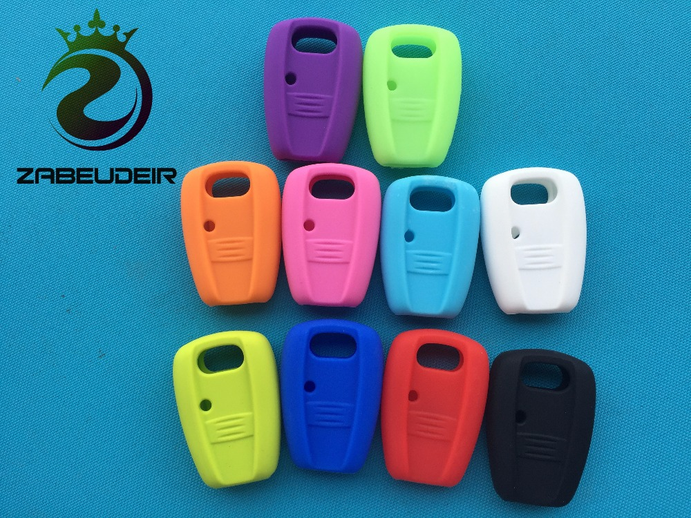 Car-Key-Cover Shell Skin-Jacket Silicone-Case 1-Button Doblo Fiat Punto Bravo Remote-Key