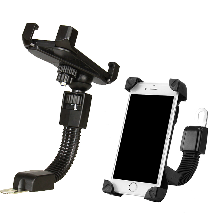 Lantro JS Phone Holder Bike Universal Motorcycle Cellphone Holder 360 Degree Rotation Bike And Motorbike Phone Stand