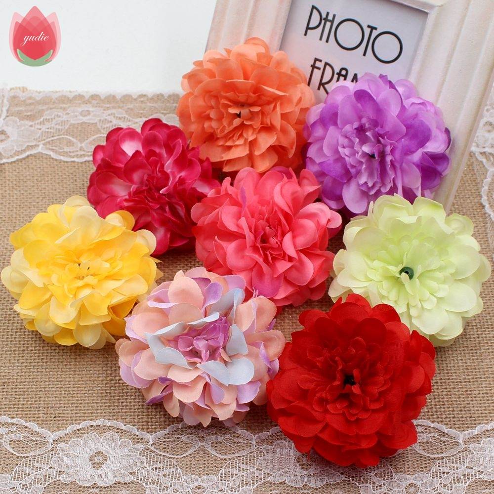 10 Unids 8 cm de Alta Calidad de Seda Peonía Ramillete de Flores Artificiales Pa
