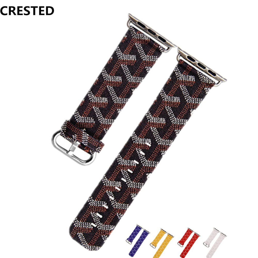 CRESTED Genuine leather strap For Apple watch band 42mm/38mm iwatch 3/2/1 classic wrist bands bracelet Crazy Horse watchband цена 2017