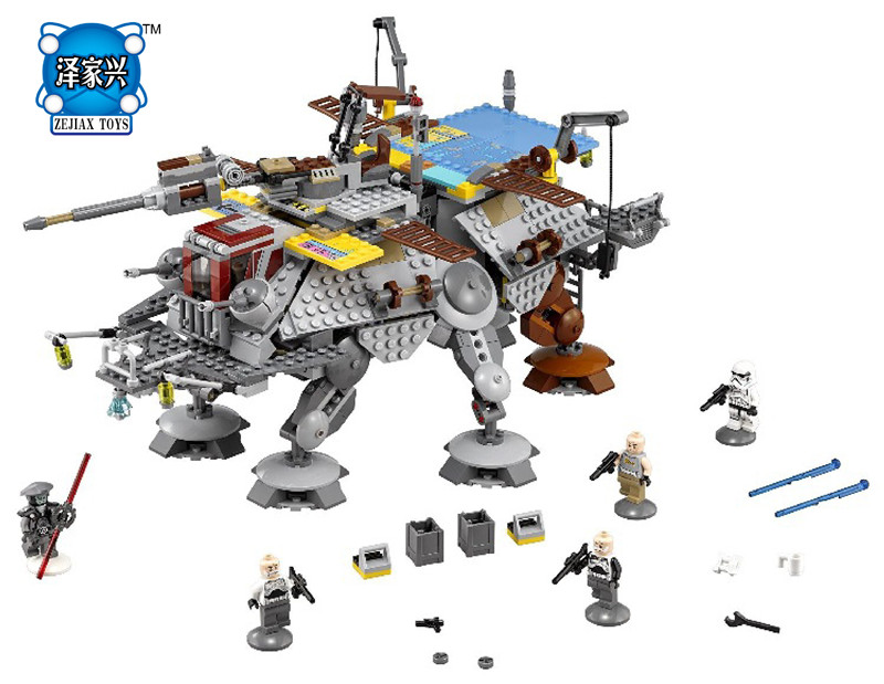 Avengers Set Star Space Wars Captain Rex's AT-TE Lepines Building Blocks Figures Model Children Bricks Toy DIY Educational Gift wl mini blocks captain america animal fruit intelligence model building nanoblock diy cute party supplies toy