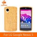 Cornmi para lg google nexus 5 funda nueva llegada patrón de madera vivienda para lg nexus 5 teléfono celular volver cubiertas y casos jth