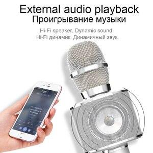 Image 5 - HOCO ميكروفون الكاريوكي بلوتوث اللاسلكية مكثف مايكروفون هاتف محمول احترافي KTV ميكروفون مشغل موسيقى ل iOS أندرويد