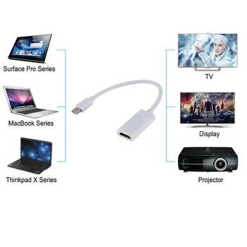 Adaptador de Mini DisplayPort a HDMI Mini DP Cable Thunderbolt 2, HDMI Convertidor para MacBook Air 13 superficie Pro Thunderbolt HD 1080P