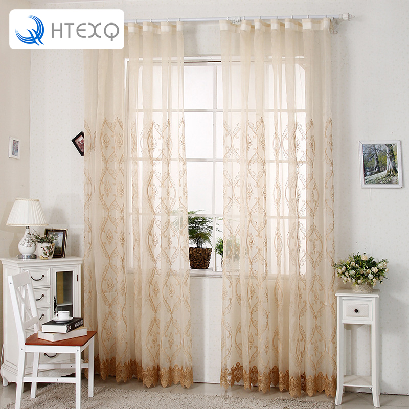 Fresh Floral Print Tulle Voile Door Window Curtain Drape Panel Sheer Scarf  Valances Yellow And White