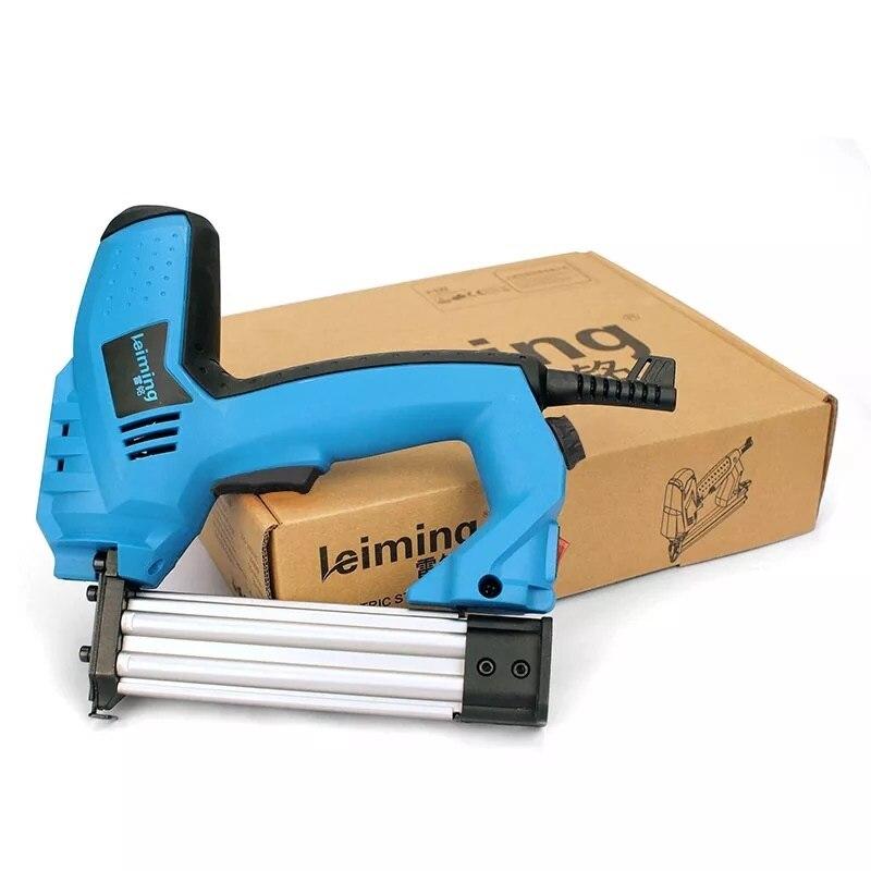200 v-240 v pistola de grampo elétrica 2 em 1 brad nailer & grampeador ferramenta elétrica do prego com 500 pregos dos pces para a mobília de madeira