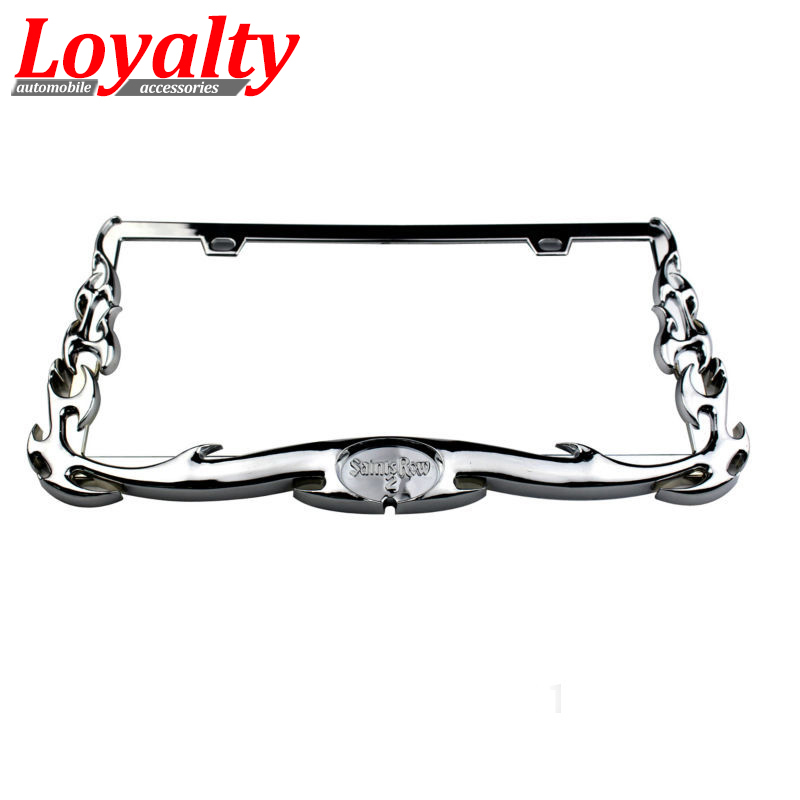 Loyalty 2pcs Car JDM Dragon Scorpion Eagle Style USA/Canada License Plate Frame Tag Cover Holder for Truck Vehicles Accessories