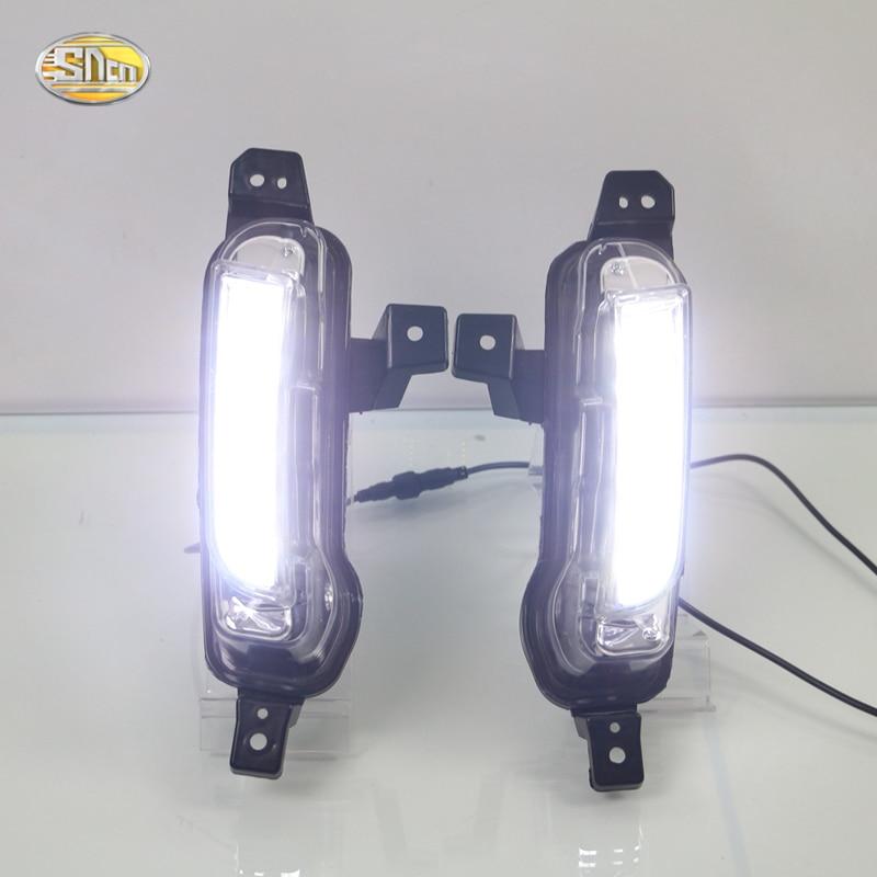 цена на SNCN LED Daytime Running Lights for Suzuki Vitara 2015 2016 DRL fog lamp driving lights