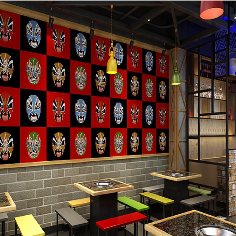 Top Quality  Fabric Mural wallpaper Chinese Face Brick wall paper papel de parede tapete restaurant/Bar decoration 3D Wallpaper