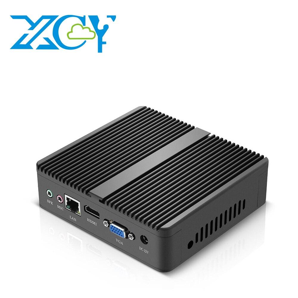 все цены на XCY NUC Intel Core i5 4210Y Fanless Mini PC Windows 10 300M WIFI VGA HDMI Linux Micro Desktop Computer HTPC Barebone Minipc онлайн