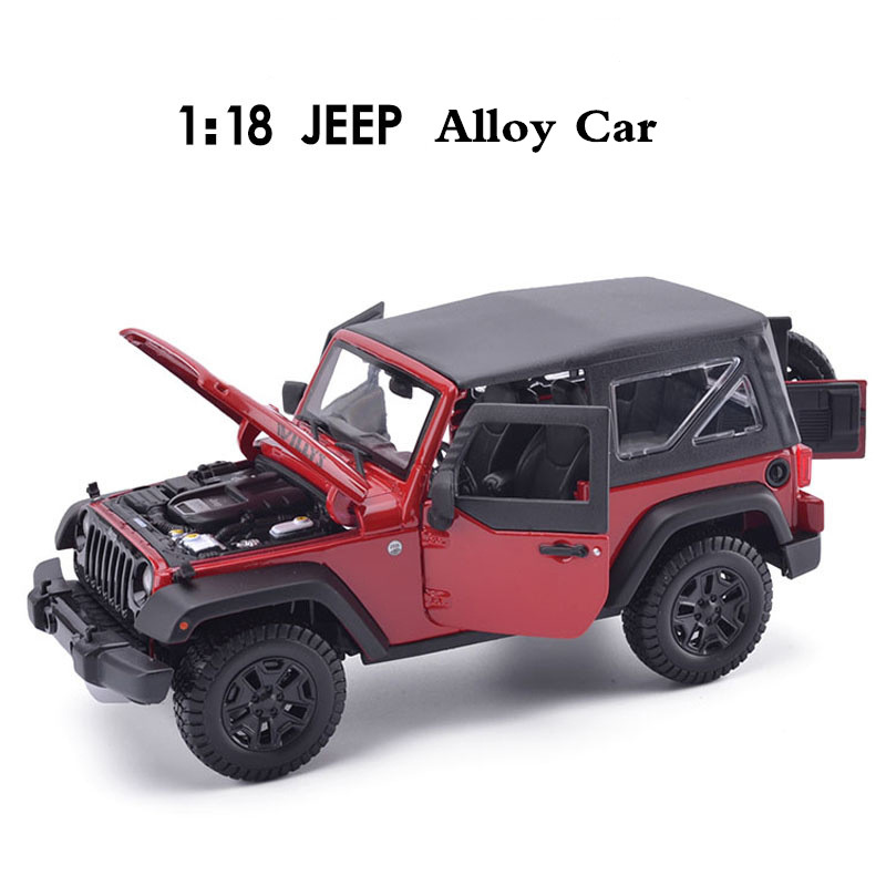 Free shipping 1: 18 alloy car, high simulation model jeep wrangler , metal diecasts, coasting, the children's toy vehicles maisto jeep wrangler rubicon fire engine 1 18 scale alloy model metal diecast car toys high quality collection kids toys gift
