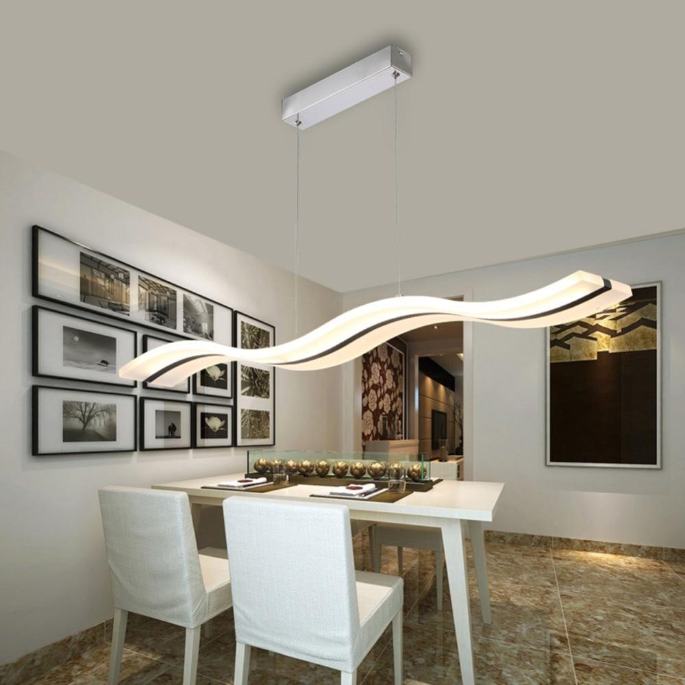 Светодиодная лампа люстра современный акрил Кухня Lamparas де Techo домашнего освещения для Обеденная AC85-260V подвесной светильник загорается ...