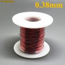 1 ChengHaoRan 0.38mm vermelho m QA 1 155 QA 180 Poliuretano esmaltado do fio de Cobre do Fio 1 metro