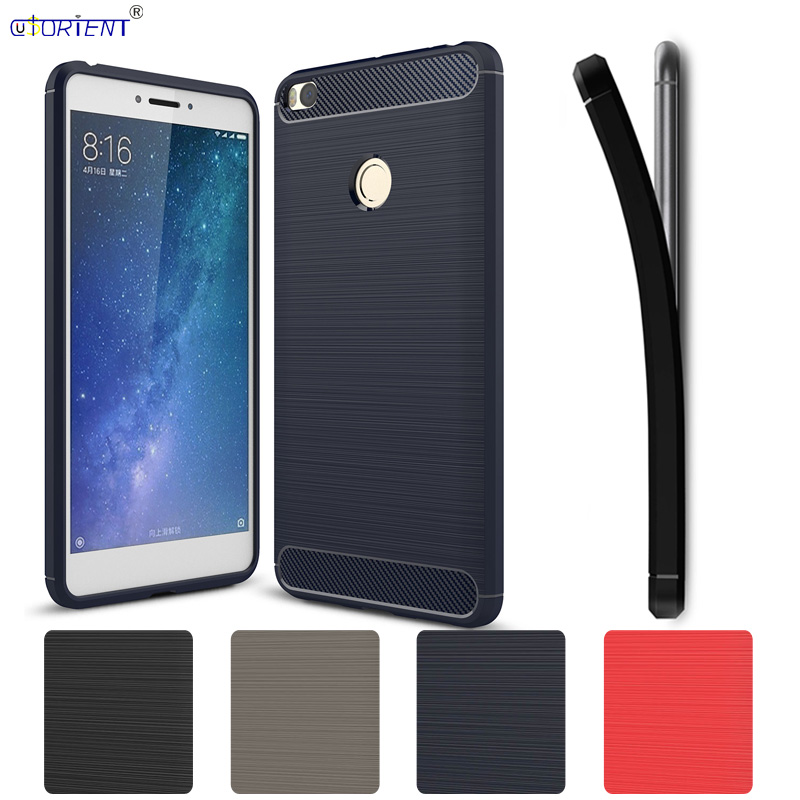 Carbon Fiber Brushed TPU Cover for Xiaomi <font><b>Mi</b></font> MAX 2 Bumper Case <font><b>Xaomi</b></font> Xiomi <font><b>Mi</b></font> MAX 2 <font><b>MAX2</b></font> Soft Phone Shell <font><b>MAX2</b></font> XiaomiMAX2 Coque image