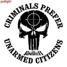 AMENDMENT GUN COOL PUNISHER 9 X 9 VINYL DECAL STICKER CAR TRUCK