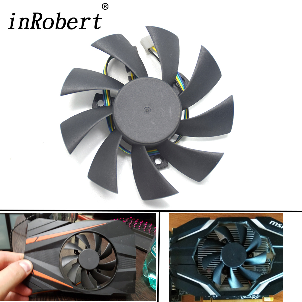 New 85mm T129215SU Cooling fan Replace For ASUS MSI Gigabyte GTX 1060 Mini 1050 960 460 570 580 R9 290X Video Card Cooler Fan laptop cooling fan for asus pu500ca fan