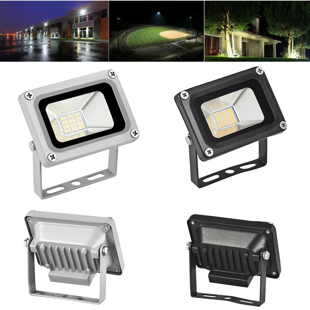 2PCS Mini 10W 12V Refletor LED Flood Light Landscape Outdoor Lighting Lamp Waterproof IP65 Square Garden Spotlights Floodlight