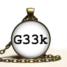 2016 Hot Sale Gamer Jewelry Geek Pendant Nerd Quote Necklace Fashion 27MM Round Pendant Choker Necklace Men Women HZ1