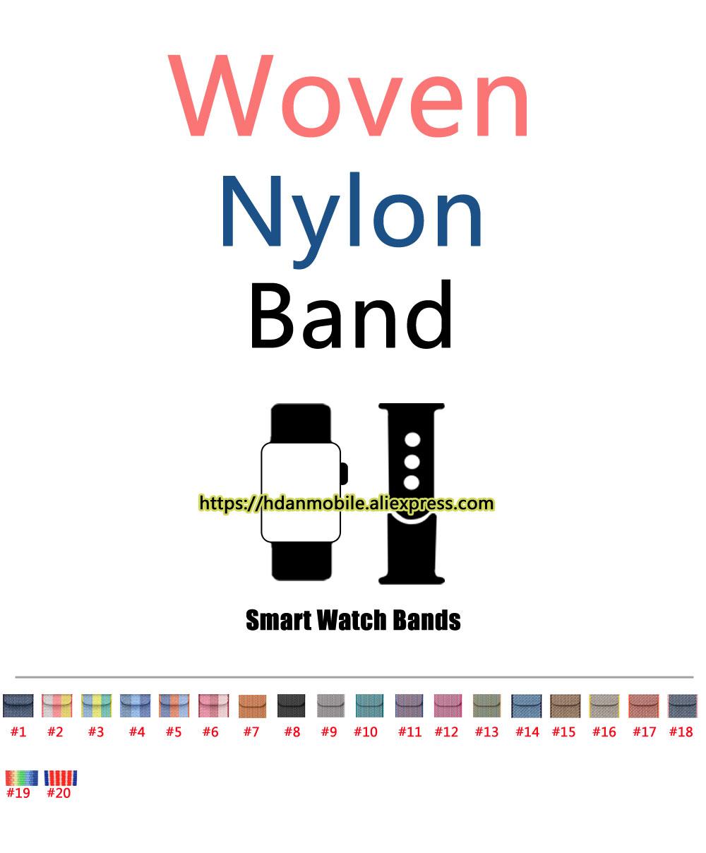 Prix pour Nouvelle Arrivée Sangle En Nylon pour iWatch Bande Nylon Bande Avec Adaptateur Intégré, pour iWatch Nylon Bande 42 MM/38 MM