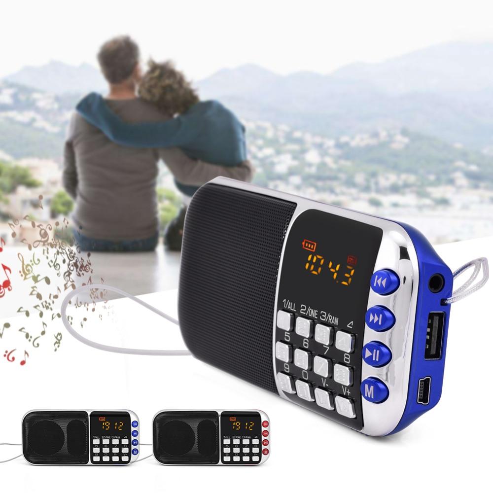 Radio FleißIg Tragbare Pn-57 Fm Radio Stereo Lautsprecher Musik-player Unterstützung Micro Sd Tf Usb-festplatte Aux Lcd SchöNe Lustre