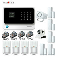 SmartYIBA G90B Plus Wireless WiFi IP Camera Alarm APP Control GSM Home Security Burglar Alarm System Motion Sensor Alarm