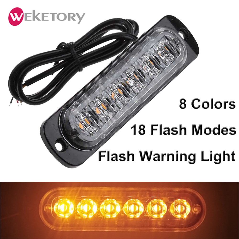 4 LED Car Emergency Warning Hazard Beacon Strobe Flash Light Bar Green Grill 12V